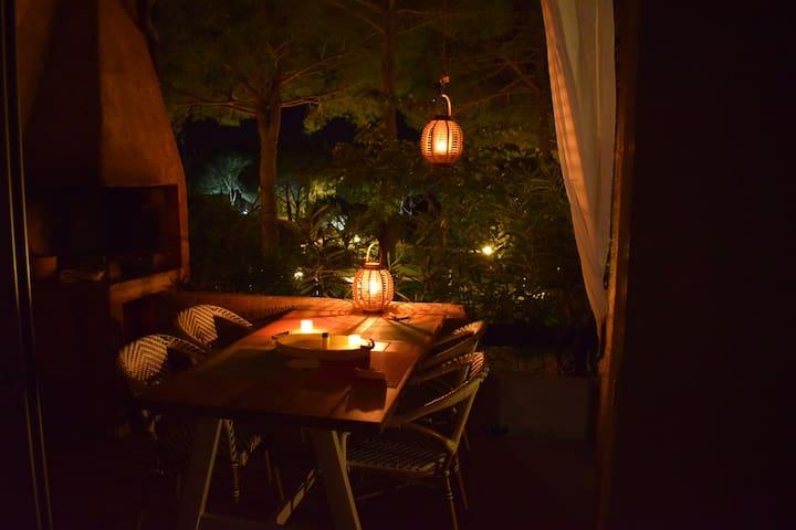 Vue terrasse au soir