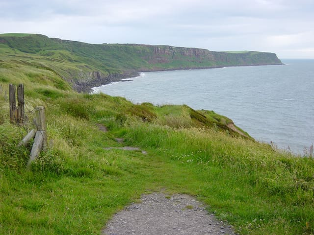 A short walk south from Whitehaven harbour - looking towards St Bees Head