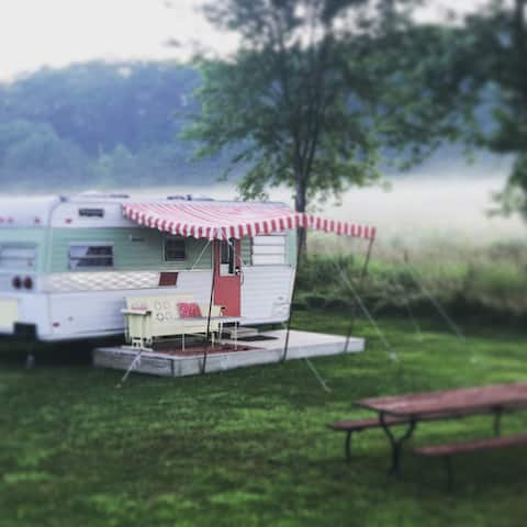 Vintage Camper at Circle M Market Farm