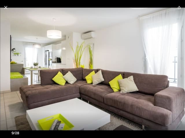 Appart + Garage proche Lyon Eurexpo, Gare, Parc OL - Décines-Charpieu - Departamento