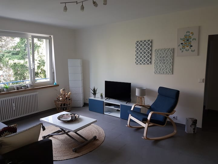 Apt 2.5 rooms fully renovated Meyrin center, CERN