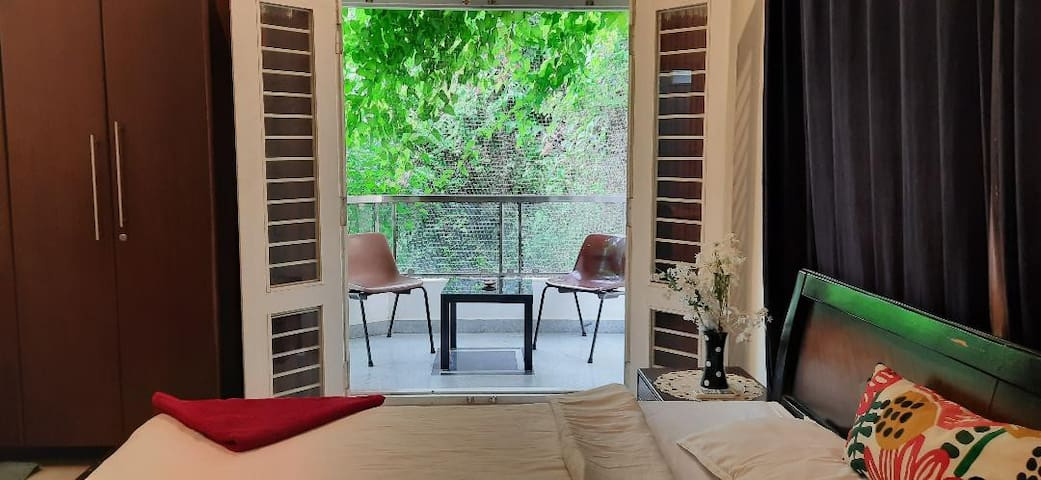 Studio Room,a private balcony & a lush green view*