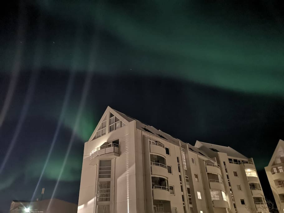 Auroras just outside the apartment. October 2018.