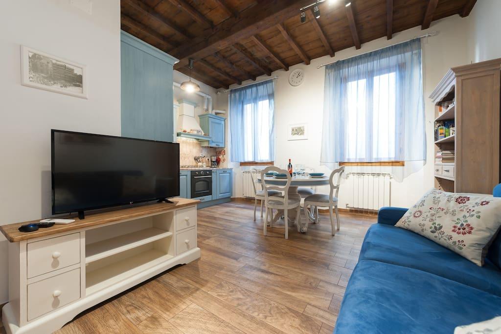 Il soggiorno per il vostro relax! La televisione ha una connessione wi-fi