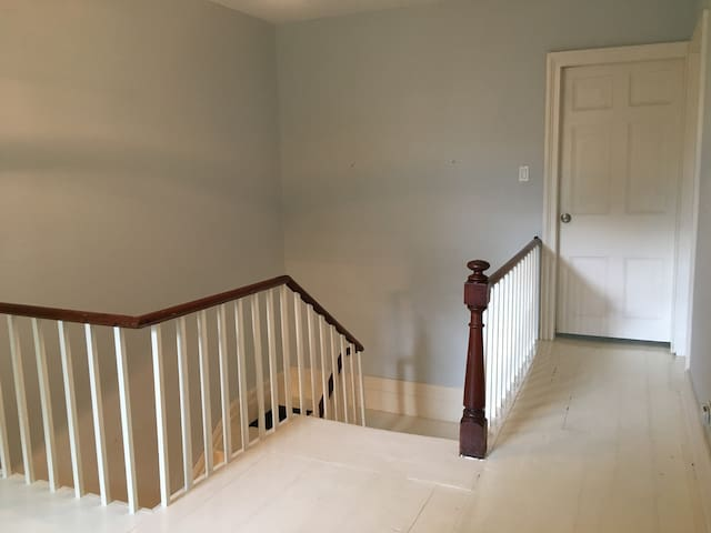 To Downstairs and Bathroom