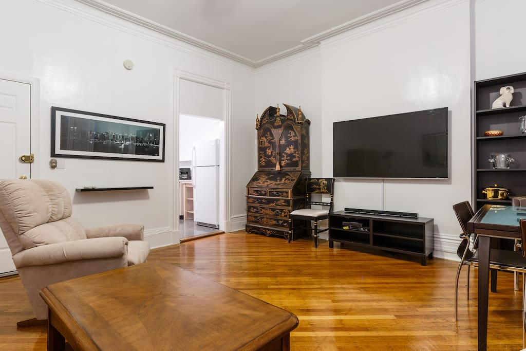 Living Room area with wide screen TV