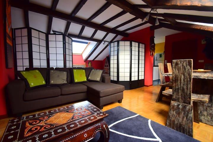 Apartamento ático en Navia, muy bonito - Navia - Wohnung