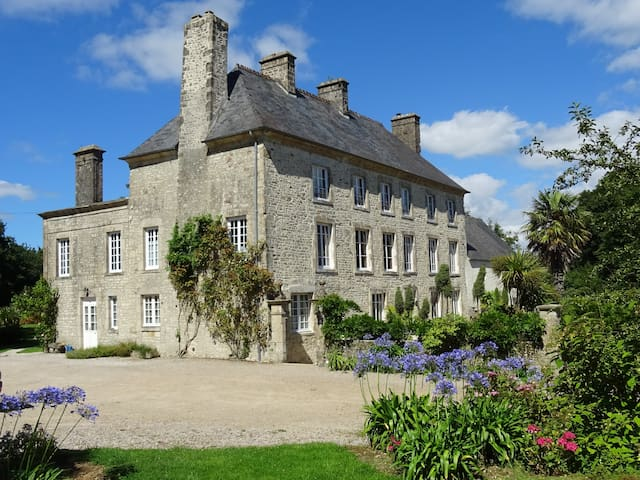 Chateau near d-day beaches Normandy Cherbourg