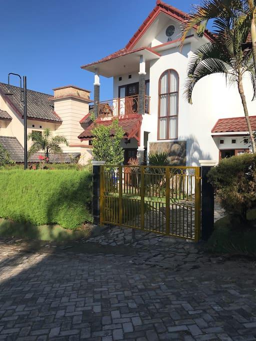 The front villa look