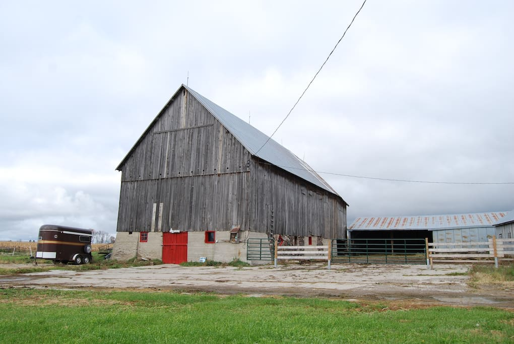 Our old rustic barn where the horses call home.