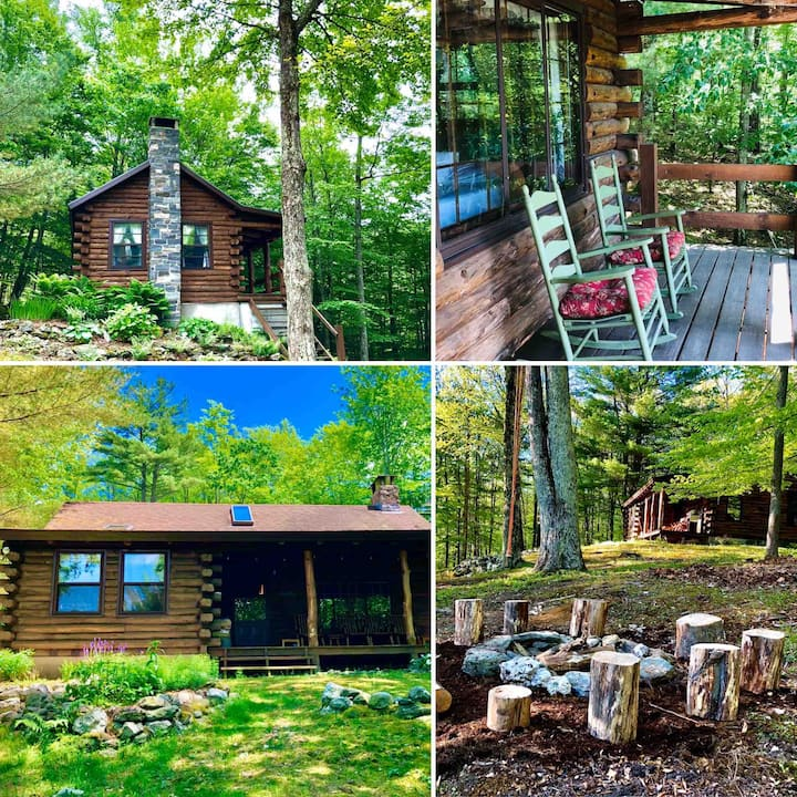 2 Log Cabins on 70 Acres (The Vermont Dream Cabin)