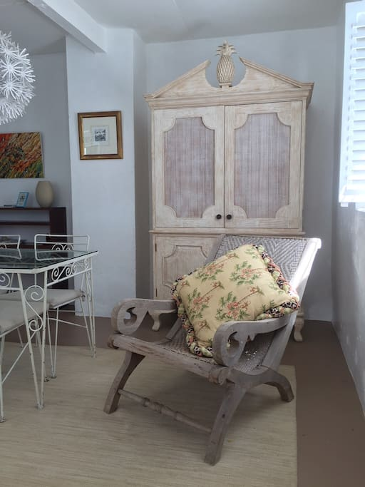 Lay back in this chair styled after the antique Barbadian Berbice chair.