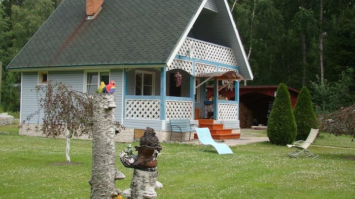Небольшой дом на берегу речки Тихой в п. Бригадное