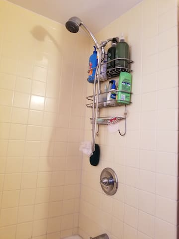 We have shower head that removes               99.999 % of all chlorine