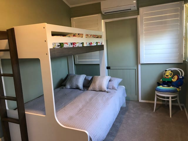 Bedroom 3 - Double bunk with single bed on top