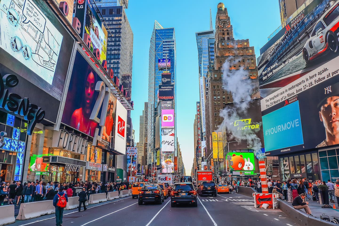 Steps away from Times Square