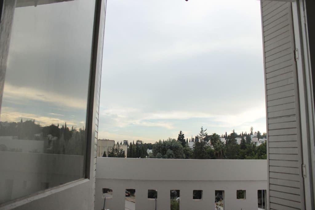 the room's balcony