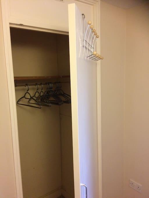 Cupboard storage/hangers/hooks