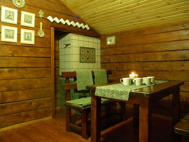 A cup of our local herbal tea in the sauna
