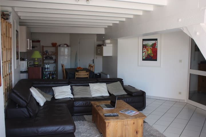 Duplex T5 avec cachet et terrasse ensoleillée - Pontarlier - Appartement