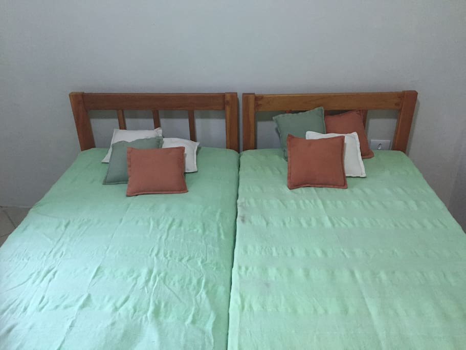 Bedroom: the double bed can be used as single bed or double bed