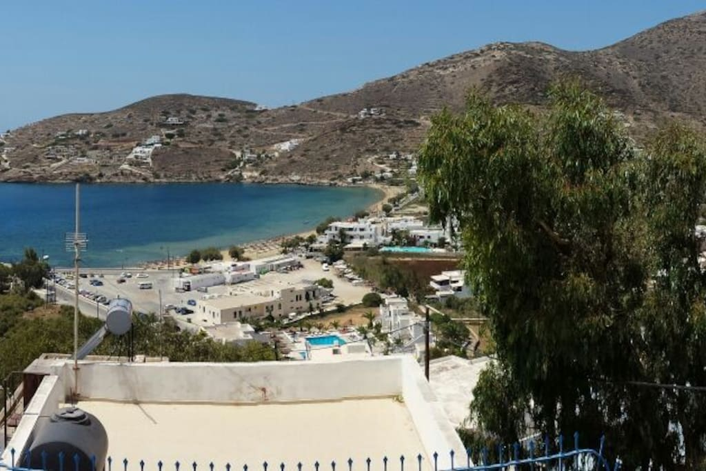 Yalos Beach. View from common area. The most loved hang out area from our visitors.