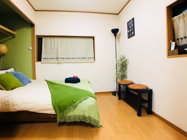 15 min walk to Osaka castle/Quiet area/4pax/A1101