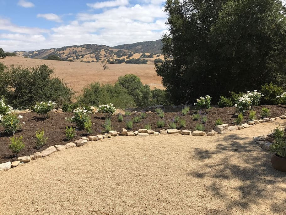 Unobstructed views looking out toward Los Olivos. French doors from bedroom 2 open up to this view. Bedrooms 3 and 4 also look out on this view.