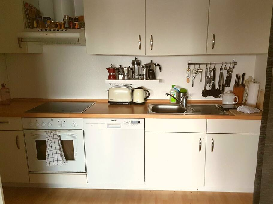 Kitchen, fully equipped with dishwasher etc.