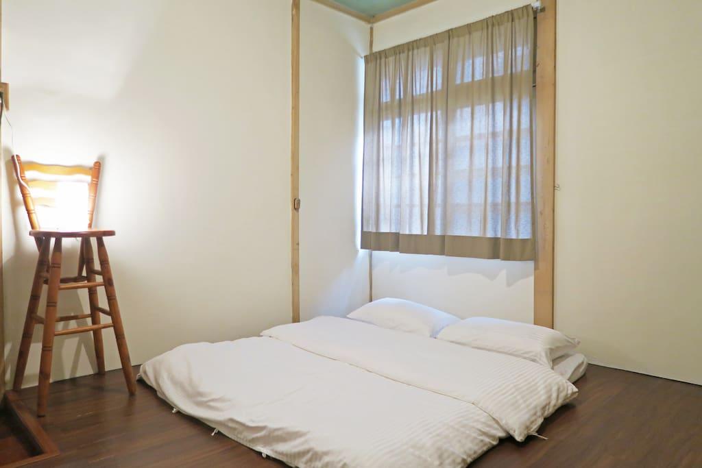 白川町當預定3人入住時開放的客房。