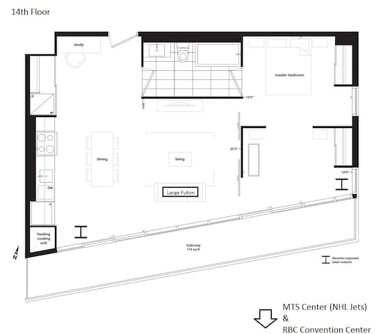 Floorplan of the Unit