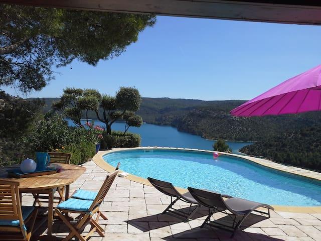 Ferienhaus mit Pool, herrlicher Aussicht (659 GRX) - Esparron-de-Verdon - Villa