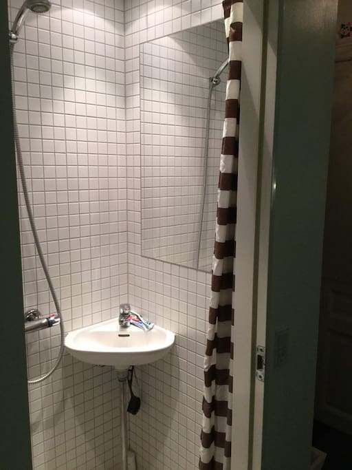 'Copenhagen' Bathroom with tiolet and shower.