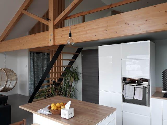 Chambre dans belle maison d'architecte