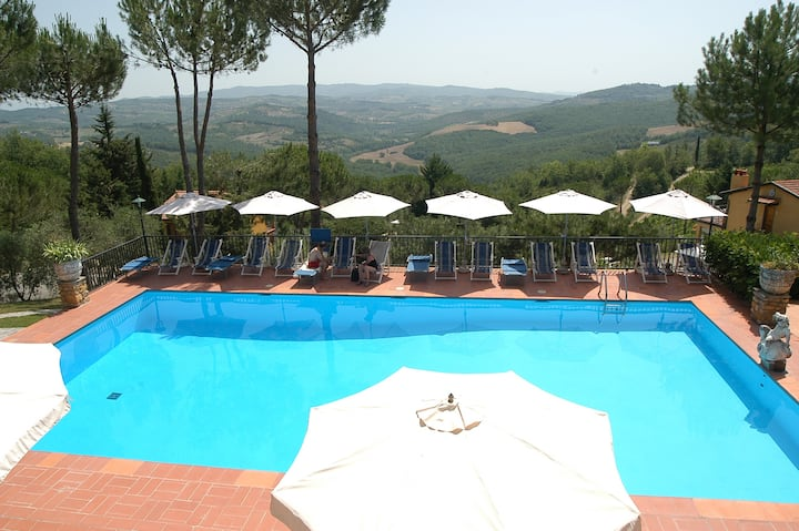 Romantic Apt in the heart of Chianti (with Tennis)