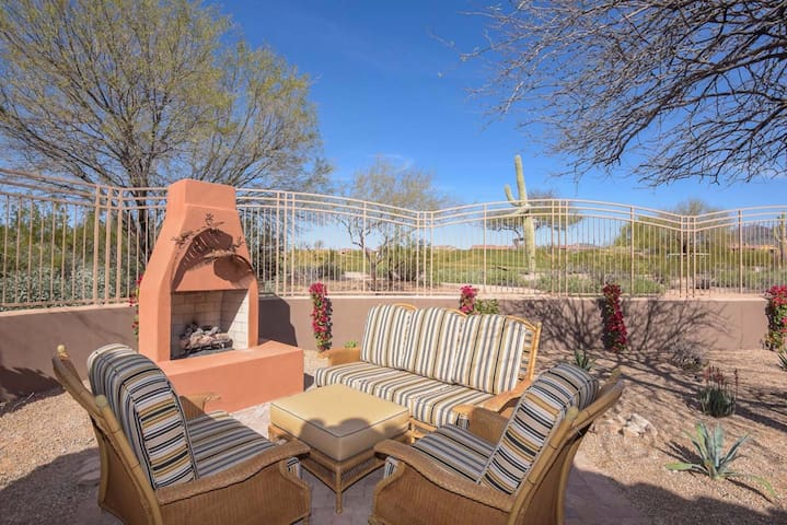 Luxury home on 10th green of  Grayhawk Golf Course
