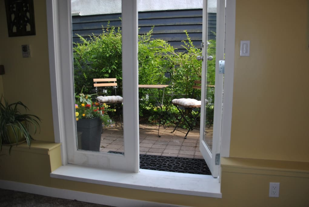 French Doors to your private garden space. Perfect for a morning coffee.