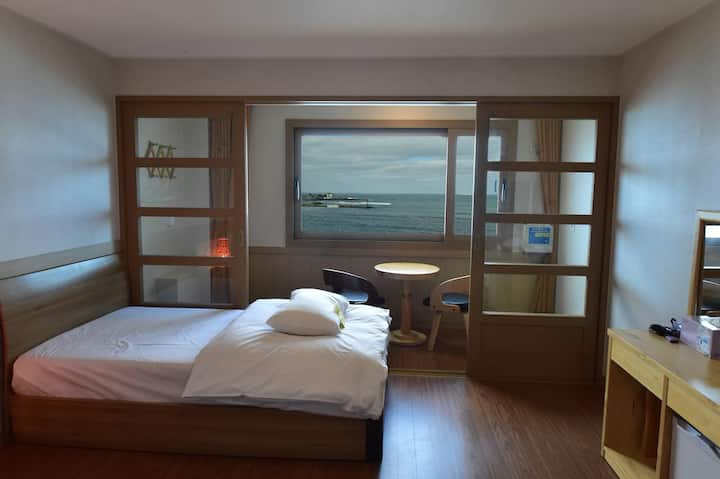 Jeju Island of fantasy. Double + Single Bed Room.