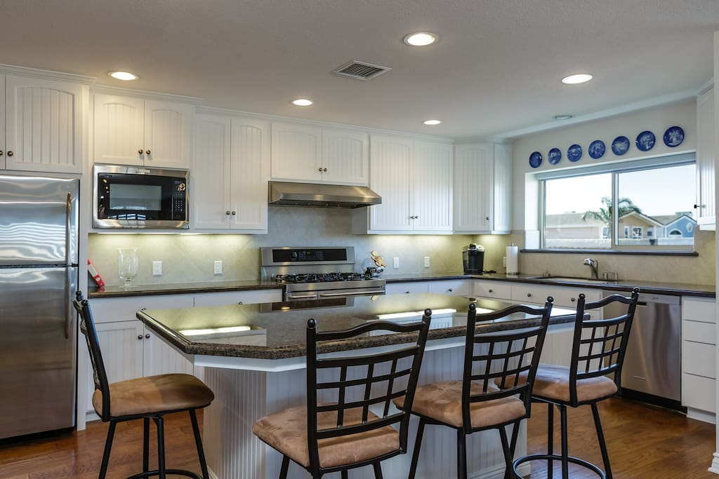 Kitchen with great island.