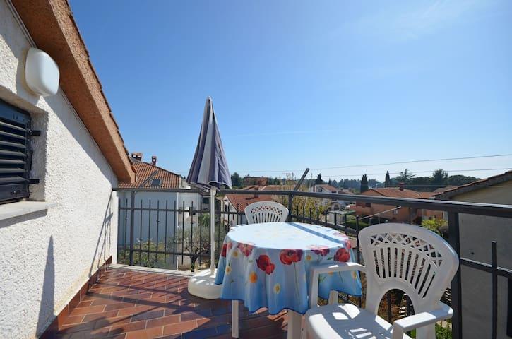 Appartement, Studio, à Novigrad, Le balcon