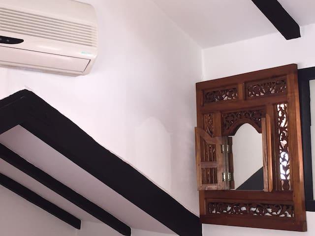 Above cozy corner...