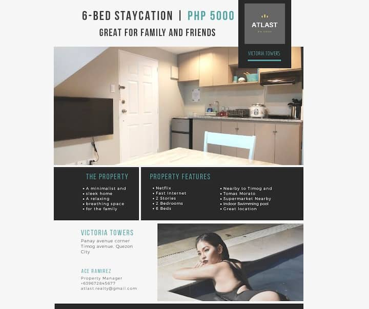 6 Bed Staycation Weekday Promo at Victoria Towers