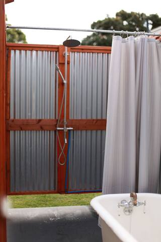 Enclosed Outdoor Shower/Tub
