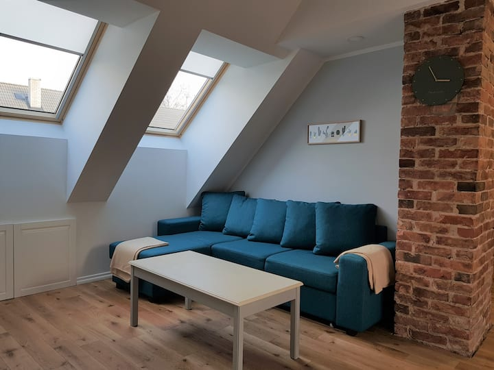 Cozy attic flat near center