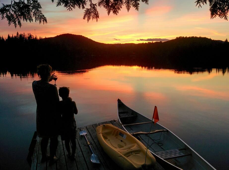 Couchers de soleils sur le lac