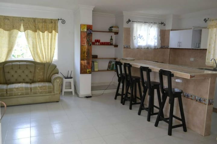 Apt on nature farm with 2 bedrooms and large terrace