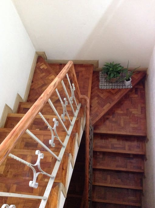 Stairs to third floor of the house