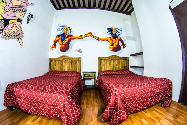 Cozy building in Puebla Center in private 2room!