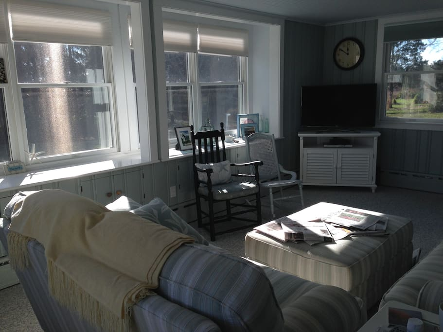 Another view of the sunny living room