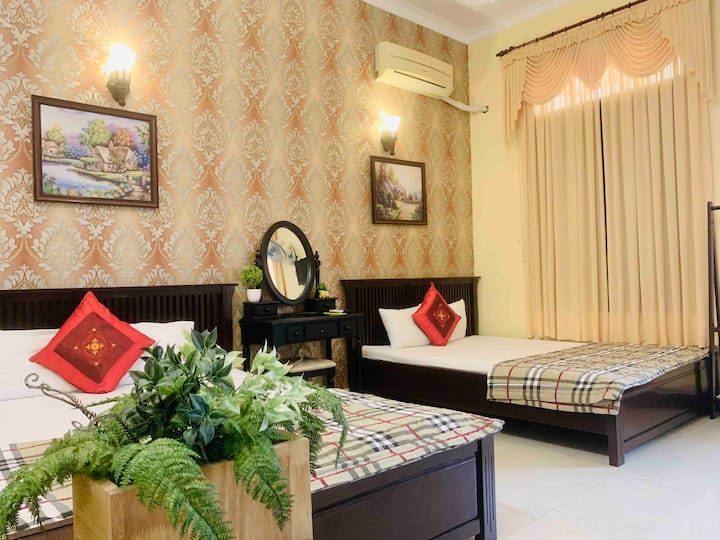 Thien Hoang Homestay 3BR-8beds-2mins to Back Beach